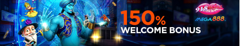 918kiss 150% welcome bonus