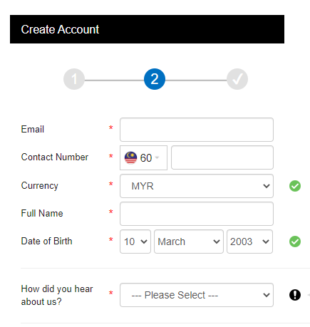 fill up the login details 2